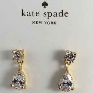 kate spade Jewelry - kate spade Gold Tone Brilliant Crystal Earring